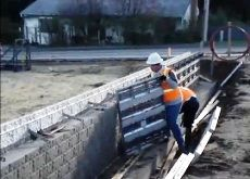 Formas Video - Construccion de muro perimetral de ladrillo